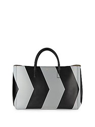 Anya Hindmarch Ebury Two Tone Leather Maxi Tote Black