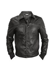 Forzieri Black Men's Leather Jacket