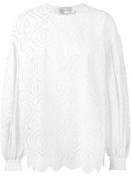 Zimmermann Oversized Crochet Blouse White