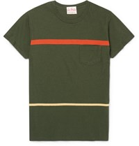 Levi's Vintage Clothing 1950S Slim Fit Striped Cotton Jersey T Shirt Army Green