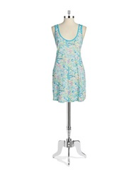 Munki Munki Patterned Nightgown Aqua