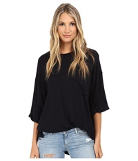 Culture Phit Oversized Modal Pocket Tee Black Women's T Shirt