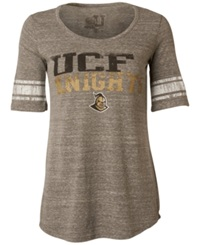 Myu Apparel Women's Short Sleeve Ucf Knights Sequin T Shirt Gray