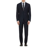 Barneys New York Men's Super 130S Kappa Two Button Suit Navy