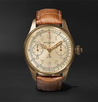 Montblanc 1858 Chronograph Tachymeter Limited Edition 100 44Mm Bronze And Alligator Watch Brown
