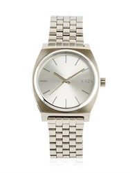 Nixon Time Teller Silver Finish And Dial Watch