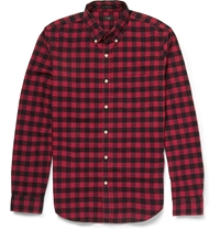 J.Crew Checked Cotton Shirt Red