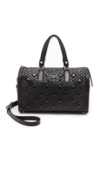 Tory Burch Marion Quilted Satchel Black