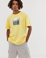 Brooklyn Supply Co. Co Extreme Oversized T Shirt With City Print In Yellow