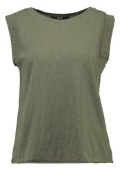 Replay Print Tshirt Dark Green