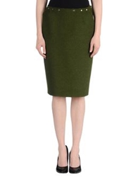 Jean Paul Gaultier Knee Length Skirts Military Green