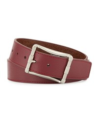 Robert Graham Baker Reversible Embossed Belt Red Brown