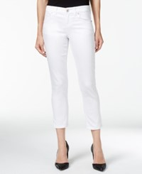 Inc International Concepts Petite Cropped White Wash Jeans