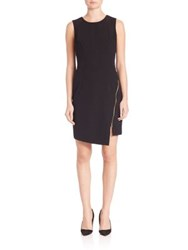 Milly Zipper Sheath Dress Black