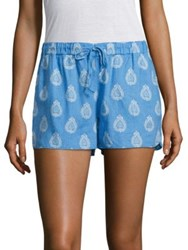 Vineyard Vines Block Printed Floral Shorts Bluejay