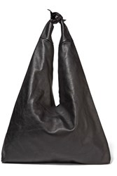 The Row Bindle Leather Shoulder Bag Black