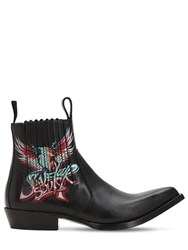 Givenchy Save Our Soul Leather Cowboy Boots Black