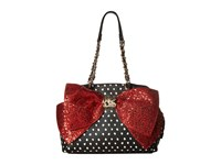 Betsey Johnson Bow Lesque Satchel Dots Satchel Handbags Blue