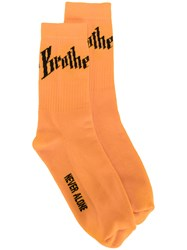 Blood Brother Toby Socks Cotton Polyester Yellow Orange