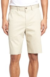 Nordstrom Big And Tall Shop Flat Front Supima Cotton Shorts Beige Light