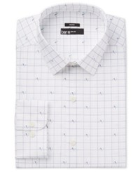 Bar Iii Men's Slim Fit Birds On Wire Print Dress Shirt Only At Macy's White
