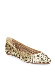 Joe's Jeans Pixie Metallic Laser Cut Flats Gold