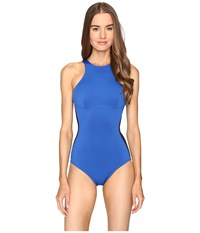 Stella Mccartney Iconic One Piece Black Royal Blue Women's Swimsuits One Piece Multi