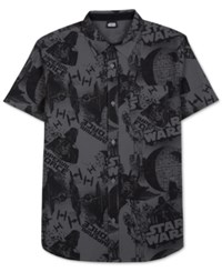 Jem Men's Star Wars Imperial Force Print Short Sleeve Shirt