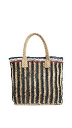 Hat Attack Stripe Handheld Tote Multi Stripe
