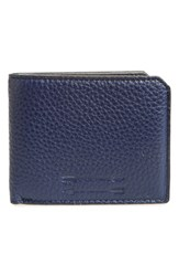 Men's Uri Minkoff 'Vesper' Leather Wallet Blue Navy