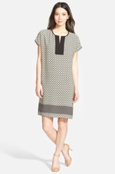Pleione Print Shift Dress Green