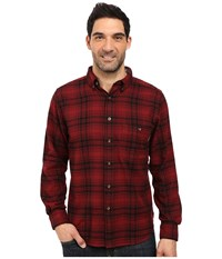 Woolrich Trout Run Flannel Shirt Red Hunt Plaid Men's Long Sleeve Button Up