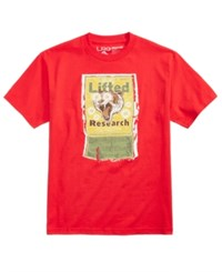 Lrg Men's Animal Kracker Logo Print T Shirt Red