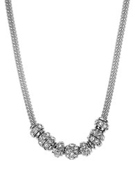 Anne Klein Chain Link And Bead Necklace Silver