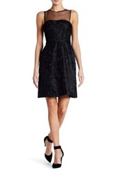 Vera Wang Strapless Lace Dress Black
