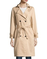 Lucca Couture Ali Twill Trench Coat Tan