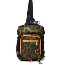 Burberry Animal Print Nylon Cross Body Backpack Light Green