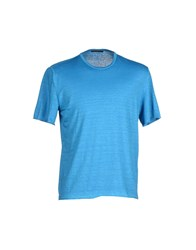 Roberto Collina Topwear T Shirts Men Azure