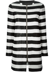 Herno Sequin Striped Coat