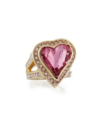 Multi Tonal Crystal Heart Ring St. John Collection