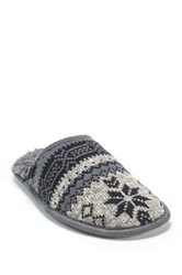 Muk Luks Gavin Faux Fur Slipper Gray