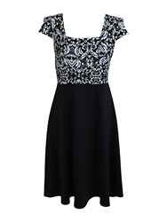 Feverfish Baroque Skater Dress Black