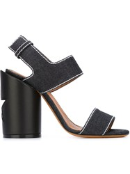 Givenchy Denim 'Rena' Sandals Blue