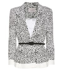Carolina Herrera Printed Cotton Blazer White
