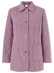 Eastex Leaf Quilted Classic Raincoat Pink