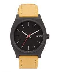 Nixon Time Teller Watch With Camel Strap And Black Face