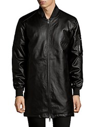 Members Only Long Bomber Jacket Black