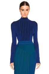Ohne Titel Plaited Rib Sweater In Blue Stripes