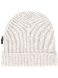 Tom Ford Cashmere Ribbed Beanie Grey
