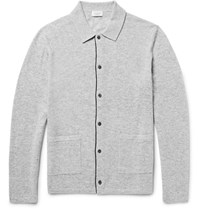 Club Monaco Melange Wool Cardigan Gray